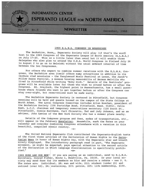 ELNA Newsletter № 1968:6